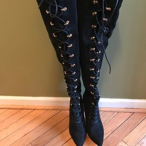 Shoes - Overknee Lace-up Boots (Brand NEW)